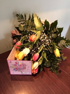 Flowers from a satified customer