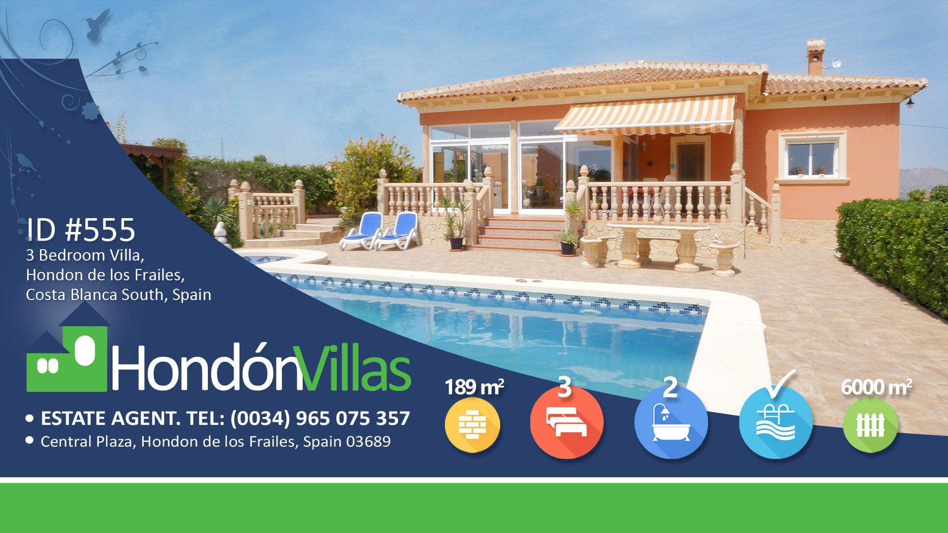 Hondon Villas, Spanish Estate Agent Sells property in Frailes, Hondon Valley