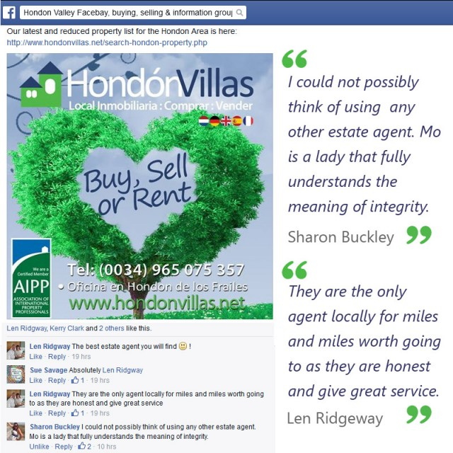 Client Comments in Hondon