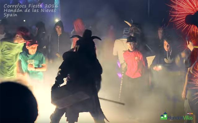Fiestas Correfocs 2016. Hondon de las Nieves