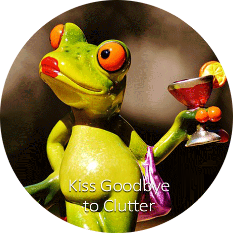 Declutter your home. Kiss the frog collection goodbye!