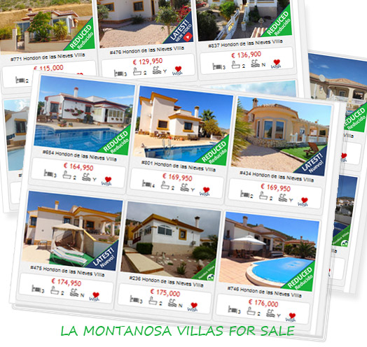 Buy Villas in La Montanosa, Hondon Valley