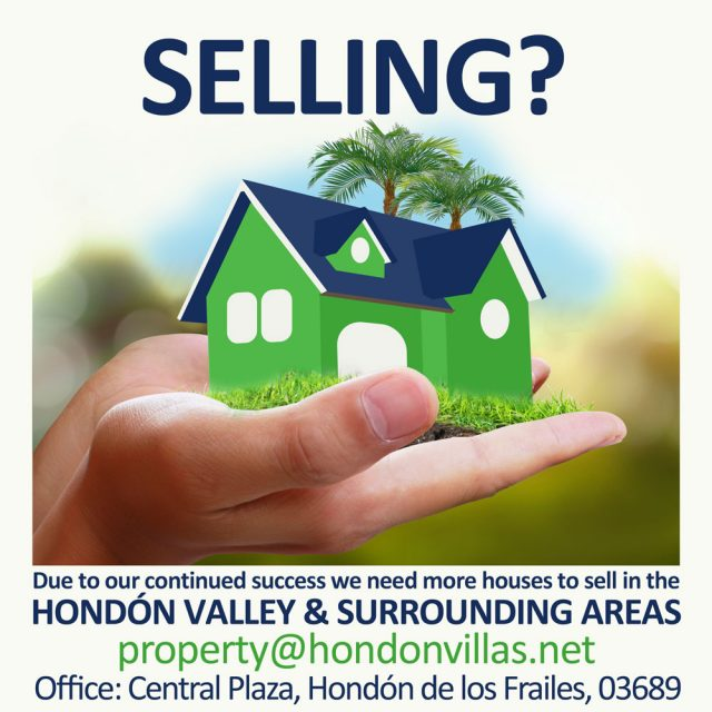 Selling your home in the Hondon Valley