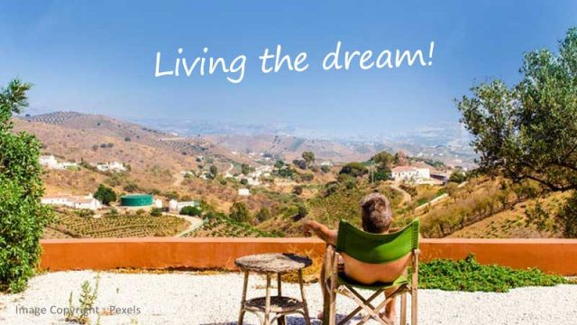 Livinf the dream .... relaxing in the Spanish sunshine. Bliss!