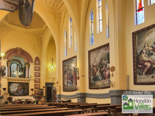 Inside the Novelda Sanctuary / Church