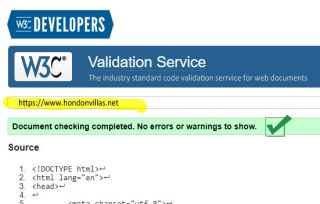 W3C Validated Hondon Real Estate Site