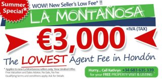 Lowest Property sales fee in Hondon