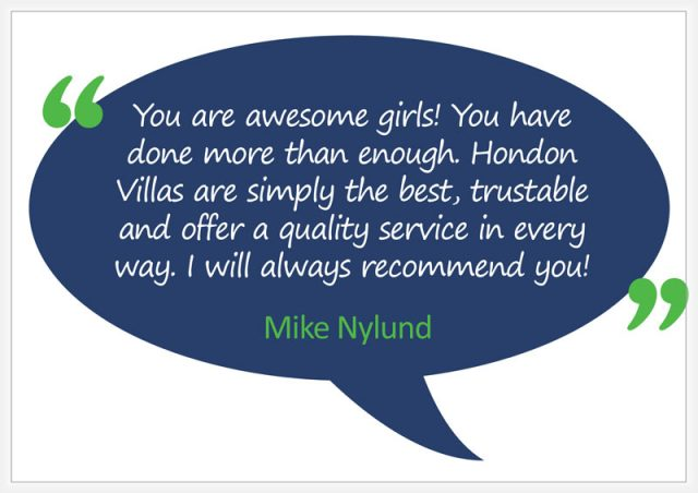 Hondon Villas are the Best ... Mike